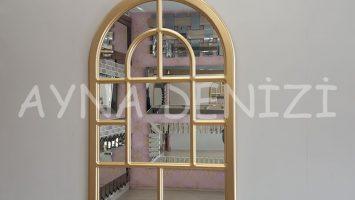 Parma Model Altın Renk Dekoratif Pencere Ayna