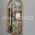 Parma Model Altın Renk Dekoratif Pencere Ayna-7