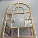 Parma Model Altın Renk Dekoratif Pencere Ayna-9