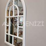 Parma Model Beyaz Renk Dekoratif Pencere Ayna-10