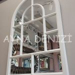 Parma Model Beyaz Renk Dekoratif Pencere Ayna-12