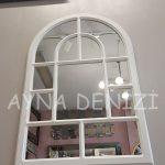Parma Model Beyaz Renk Dekoratif Pencere Ayna-13
