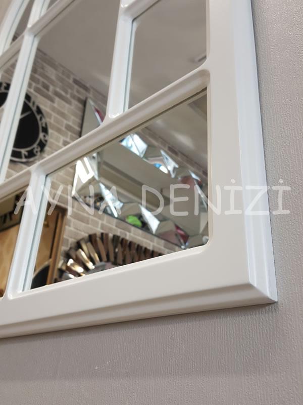 Parma Model Beyaz Renk Dekoratif Pencere Ayna-22