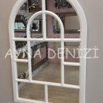 Parma Model Beyaz Renk Dekoratif Pencere Ayna-7