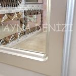 Parma Model Gümüş Renk Dekoratif Pencere Ayna-17