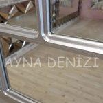 Parma Model Gümüş Renk Dekoratif Pencere Ayna-18