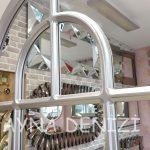 Parma Model Gümüş Renk Dekoratif Pencere Ayna-19