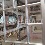 Parma Model Gümüş Renk Dekoratif Pencere Ayna-20