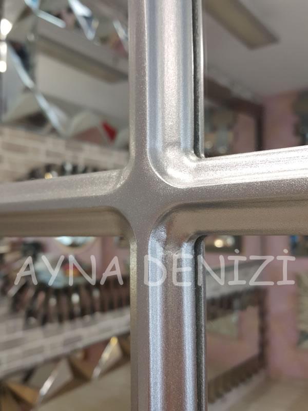 Parma Model Gümüş Renk Dekoratif Pencere Ayna-22