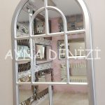 Parma Model Gümüş Renk Dekoratif Pencere Ayna-3