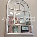 Parma Model Gümüş Renk Dekoratif Pencere Ayna-5