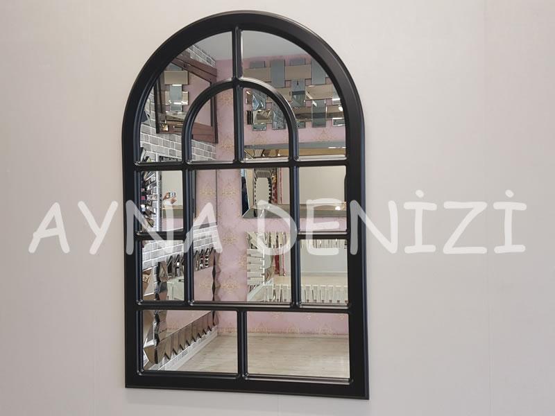 Parma Model Siyah Renk Dekoratif Pencere Ayna-1