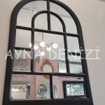 Parma Model Siyah Renk Dekoratif Pencere Ayna-10