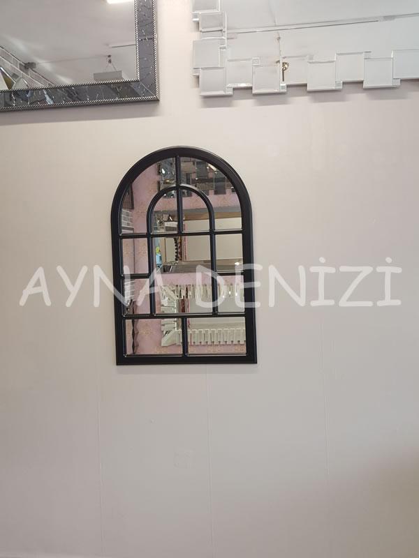Parma Model Siyah Renk Dekoratif Pencere Ayna-11
