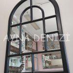 Parma Model Siyah Renk Dekoratif Pencere Ayna-12
