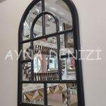 Parma Model Siyah Renk Dekoratif Pencere Ayna-13