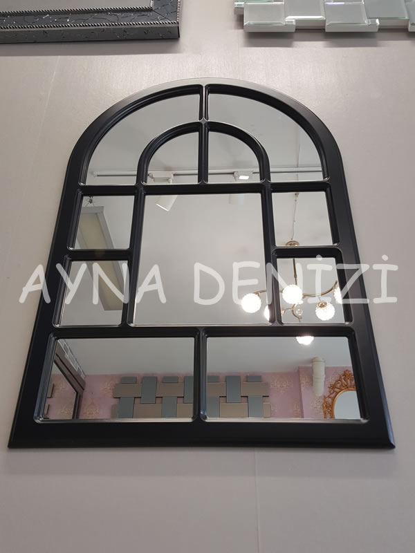 Parma Model Siyah Renk Dekoratif Pencere Ayna-14