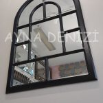 Parma Model Siyah Renk Dekoratif Pencere Ayna-15