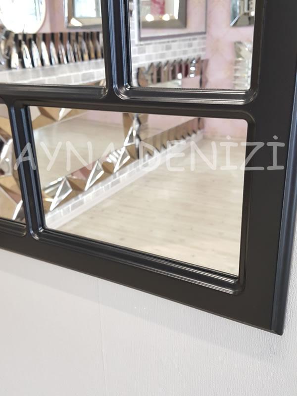Parma Model Siyah Renk Dekoratif Pencere Ayna-16
