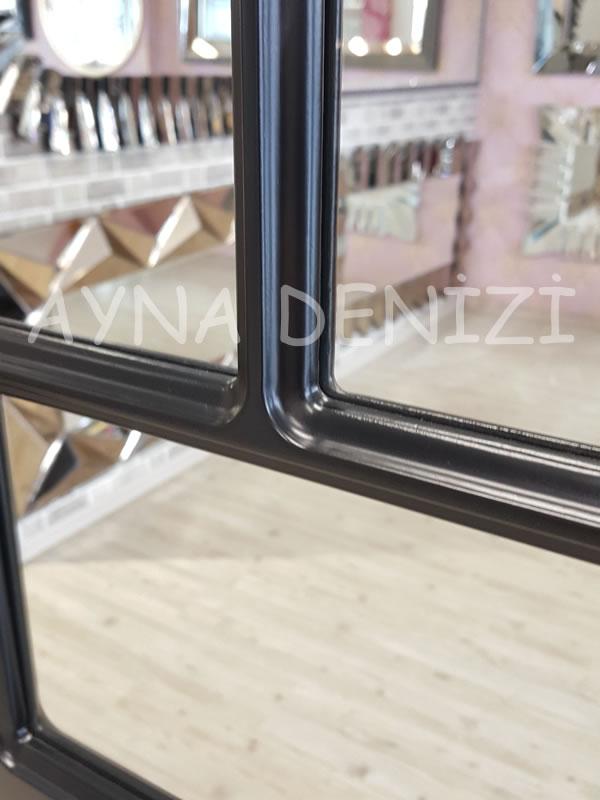 Parma Model Siyah Renk Dekoratif Pencere Ayna-17