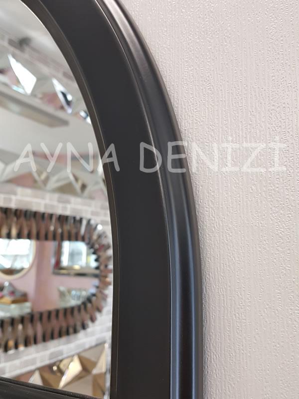 Parma Model Siyah Renk Dekoratif Pencere Ayna-18