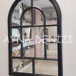 Parma Model Siyah Renk Dekoratif Pencere Ayna-2