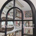 Parma Model Siyah Renk Dekoratif Pencere Ayna-21