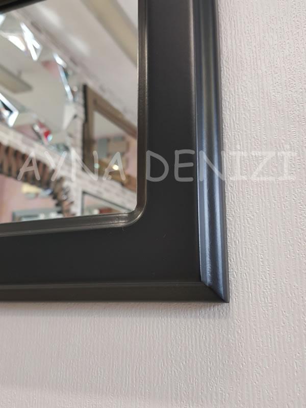 Parma Model Siyah Renk Dekoratif Pencere Ayna-23