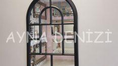 Parma Model Siyah Renk Dekoratif Pencere Ayna
