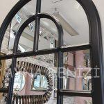 Parma Model Siyah Renk Dekoratif Pencere Ayna-24