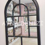 Parma Model Siyah Renk Dekoratif Pencere Ayna-5