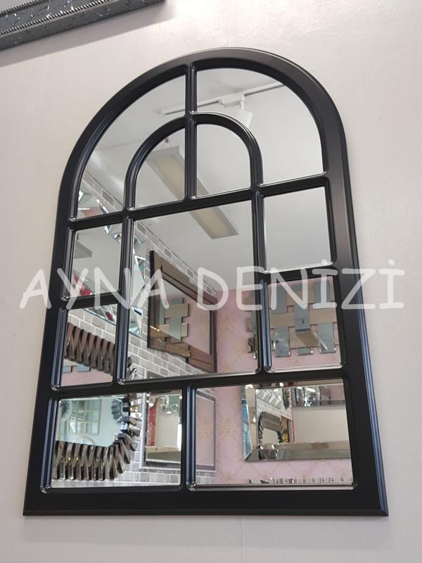 Parma Model Siyah Renk Dekoratif Pencere Ayna-7