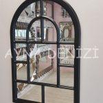 Parma Model Siyah Renk Dekoratif Pencere Ayna-8