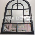 Parma Model Siyah Renk Dekoratif Pencere Ayna-9