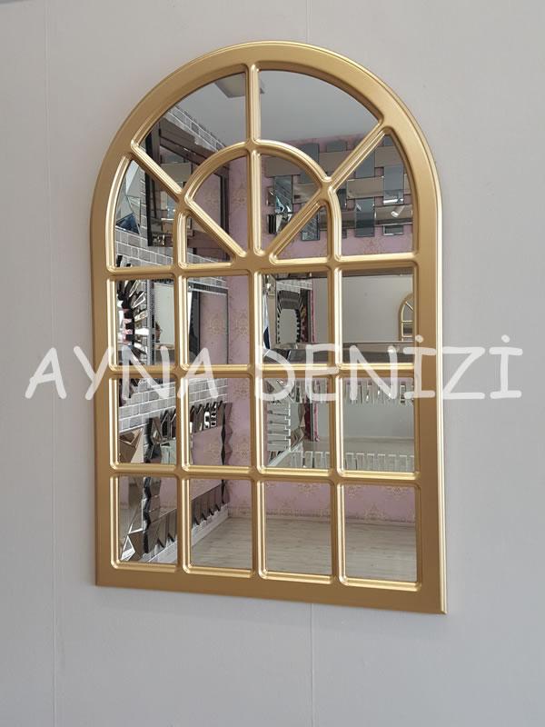 Paviya Model Altın Paviya Model Altın Renk Dekoratif Pencere Ayna-11Dekoratif Pencere Ayna-10