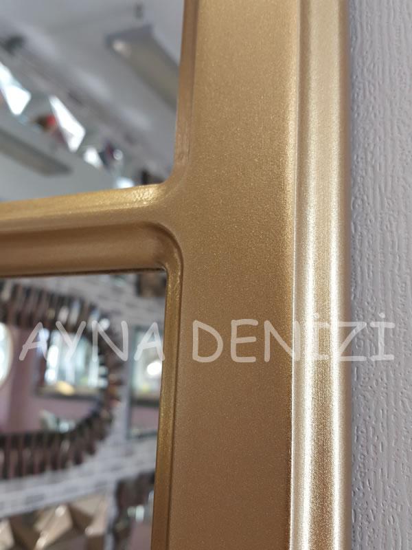 Paviya Model Altın Renk Dekoratif Pencere Ayna-21
