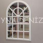 Paviya Model Beyaz Renk Dekoratif Pencere Ayna-1