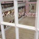 Paviya Model Beyaz Renk Dekoratif Pencere Ayna-20