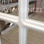 Paviya Model Beyaz Renk Dekoratif Pencere Ayna-22