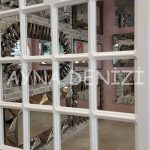 Paviya Model Beyaz Renk Dekoratif Pencere Ayna-23