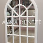 Paviya Model Beyaz Renk Dekoratif Pencere Ayna-5