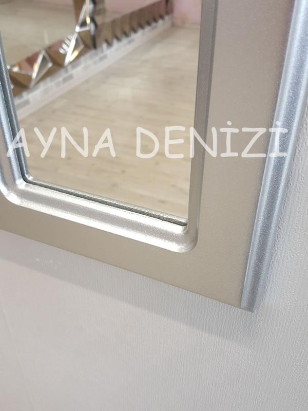 Paviya Model Gümüş Renk Dekoratif Pencere Ayna-15