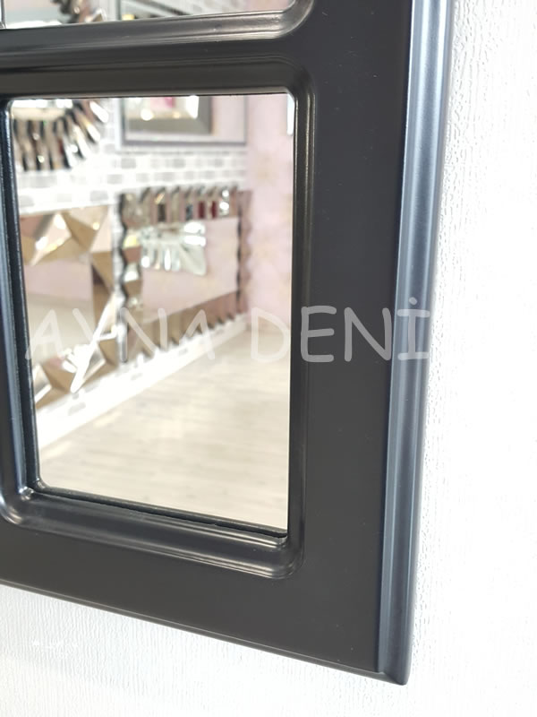 Paviya Model Siyah Renk Dekoratif Pencere Ayna-11