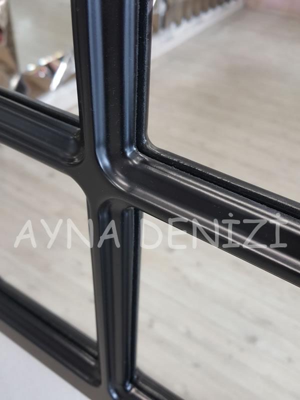 Paviya Model Siyah Renk Dekoratif Pencere Ayna-18