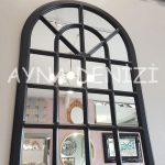 Paviya Model Siyah Renk Dekoratif Pencere Ayna-7
