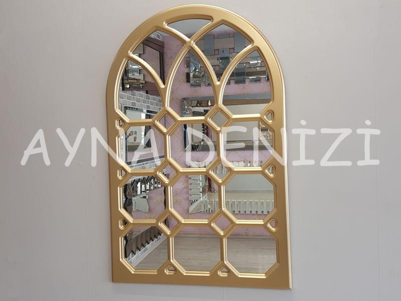Rennes Model Altın Renk Dekoratif Pencere Ayna-1
