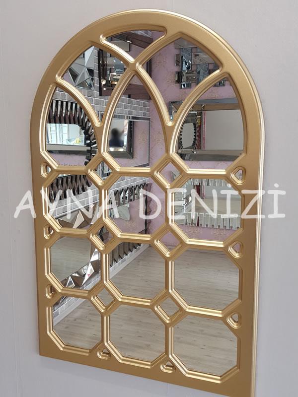 Rennes Model Altın Renk Dekoratif Pencere Ayna-10