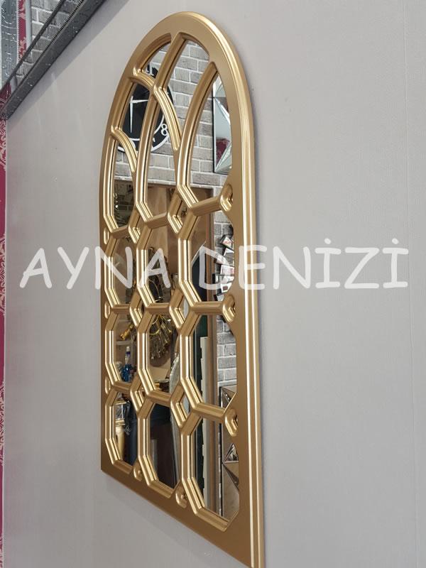 Rennes Model Altın Renk Dekoratif Pencere Ayna-11
