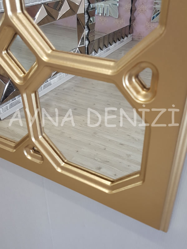 Rennes Model Altın Renk Dekoratif Pencere Ayna-12
