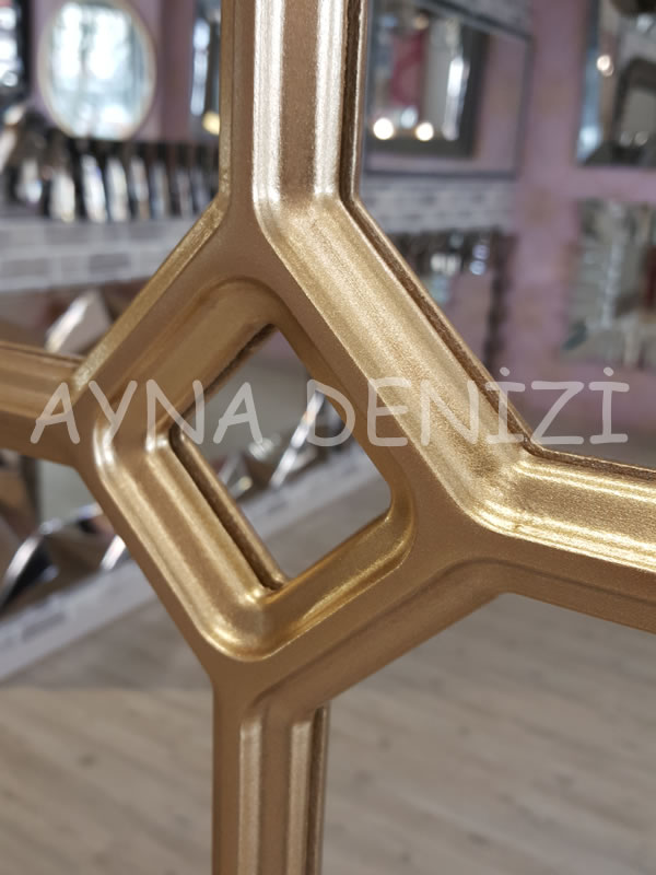 Rennes Model Altın Renk Dekoratif Pencere Ayna-13
